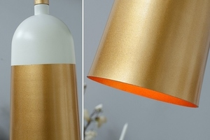 INVICTA pendant lamp MODERN CHICK - white and gold small 1
