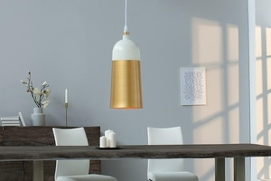 INVICTA pendant lamp MODERN CHICK - white and gold small 3