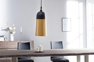 INVICTA pendant lamp MODERN CHICK - black and gold small 2