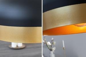 INVICTA pendant lamp MODERN CHICK II - black and gold small 1