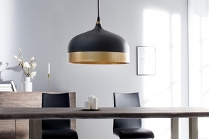 INVICTA pendant lamp MODERN CHICK II - black and gold small 2