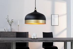INVICTA pendant lamp MODERN CHICK II - black and gold small 3