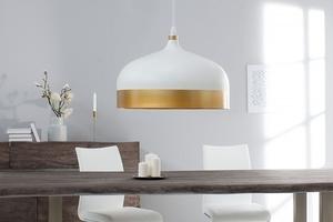 INVICTA pendant lamp MODERN CHICK II - white and gold small 2