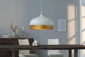 INVICTA pendant lamp MODERN CHICK II - white and gold small 3