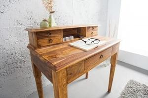 INVICTA writing desk HEMINGWAY 90 cm - sheesham wood small 1