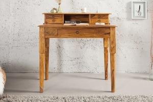 INVICTA writing desk HEMINGWAY 90 cm - sheesham wood small 2