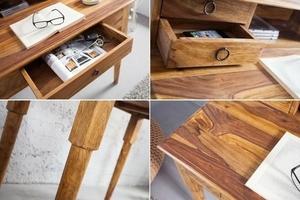 INVICTA writing desk HEMINGWAY 90 cm - sheesham wood small 5