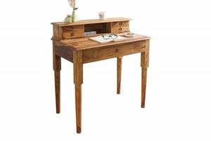 INVICTA writing desk HEMINGWAY 90 cm - sheesham wood small 0