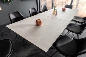 INVICTA table ETERNITY 180-225 concrete - glass, stainless steel small 3