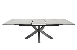 INVICTA table ETERNITY 180-225 concrete - glass, stainless steel small 5