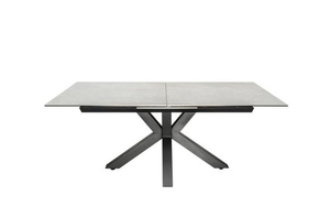 INVICTA table ETERNITY 180-225 concrete - glass, stainless steel small 0