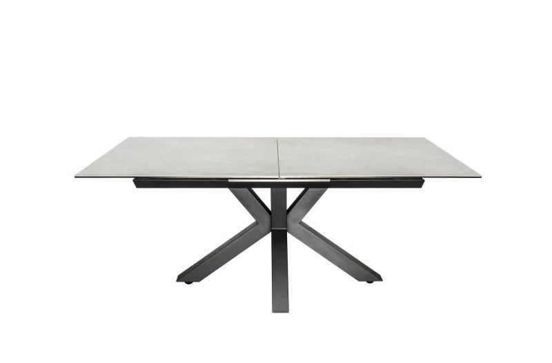 INVICTA table ETERNITY 180-225 concrete - glass, stainless steel