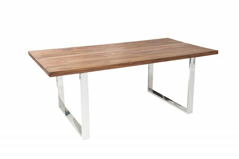 INVICTA table FIRE & EARTH 160 sheesham - natural wood, stainless steel