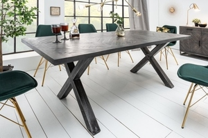 INVICTA table INFINITY HOME 160 cm gray - mango, natural wood, metal small 1