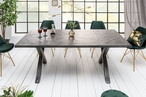 INVICTA table INFINITY HOME 160 cm gray - mango, natural wood, metal small 2