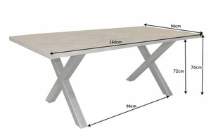 INVICTA table INFINITY HOME 160 cm gray - mango, natural wood, metal small 6