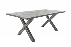 INVICTA table INFINITY HOME 160 cm gray - mango, natural wood, metal small 0