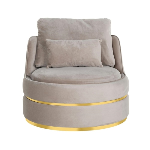 RICHMOND armchair KYLIE KHAKI VELVET beige, gold base