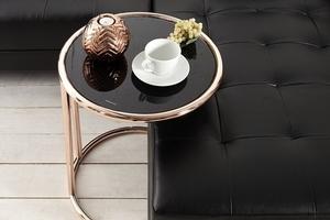 INVICTA table ART DECO copper - metal, glass small 4