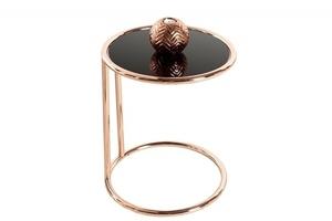 INVICTA table ART DECO copper - metal, glass small 0