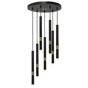 Hanging lamp Monza Black / Gold 7x G9 8 W small 1