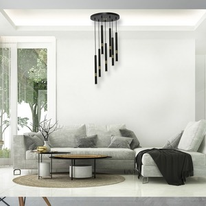 Hanging lamp Monza Black / Gold 7x G9 8 W small 4