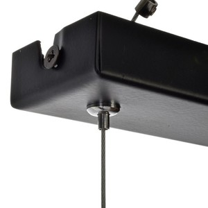 Hanging lamp Ozzy Black / Wood 3x E27 60 W small 10