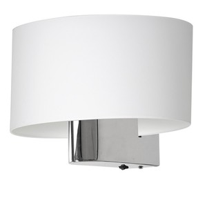 Casino White / Chrome 1x E27 wall lamp small 3