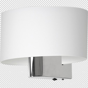 Casino White / Chrome 1x E27 wall lamp small 7