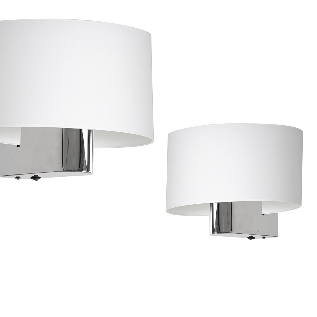 Casino White / Chrome 1x E27 wall lamp