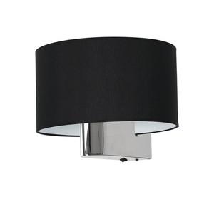 Casino Black / Chrome 1x E27 wall lamp small 2