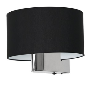 Casino Black / Chrome 1x E27 wall lamp small 3