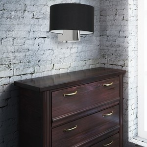 Casino Black / Chrome 1x E27 wall lamp small 4
