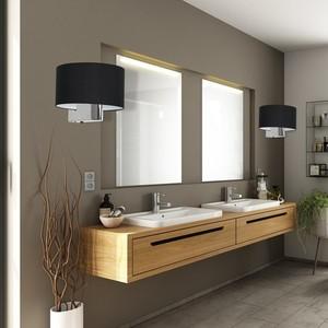 Casino Black / Chrome 1x E27 wall lamp small 5