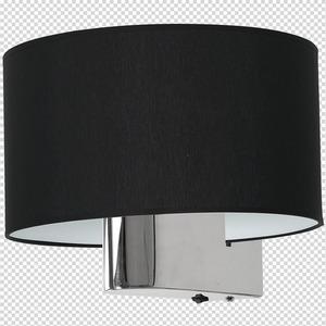 Casino Black / Chrome 1x E27 wall lamp small 7
