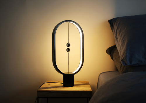 Segula Black table lamp with magnetic switch