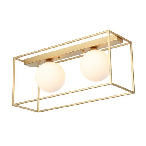 Gold Modern Mediamo G9 2-point ceiling lamp