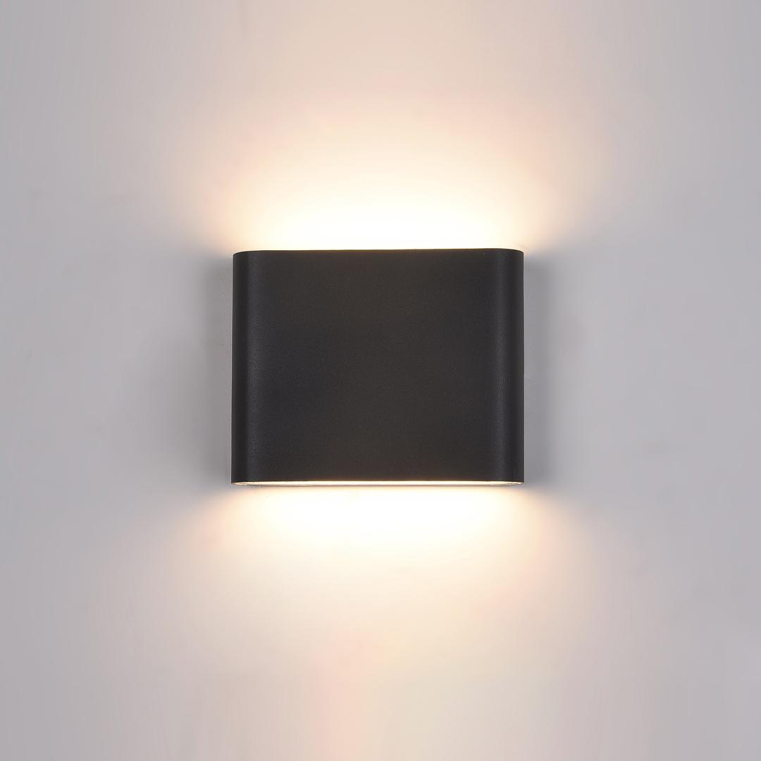Black Romano LED outdoor wall lamp