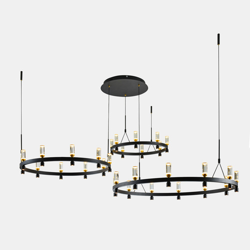 Black Almelo LED Pendant Lamp