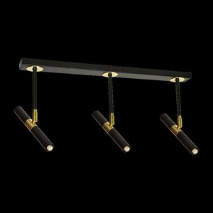 Ceiling Lamp Monza Black / Gold 3x G9 8 W small 7