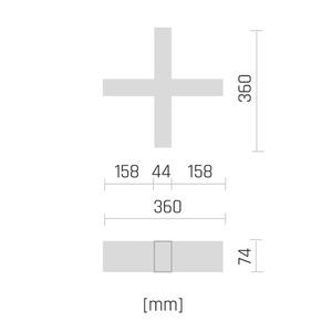 Allday Inspire Elements X 830 27w 230v 90st White small 1