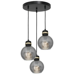 Hanging lamp Omega Black / Gold 3x E27 small 1