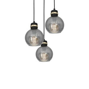 Hanging lamp Omega Black / Gold 3x E27 small 2