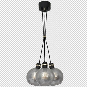 Hanging lamp Omega Black / Gold 3x E27 small 7