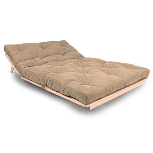 FUTON 140x200 Layti 140 sofa bed raw wood - beige small 1