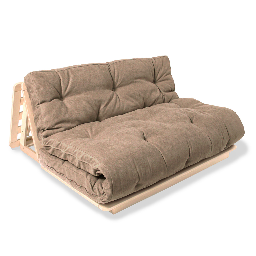 FUTON 140x200 Layti 140 sofa bed raw wood - beige