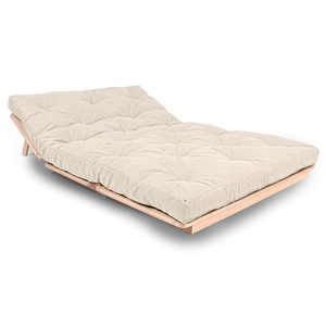 FUTON Layti 140 sofa bed raw wood - cream small 2