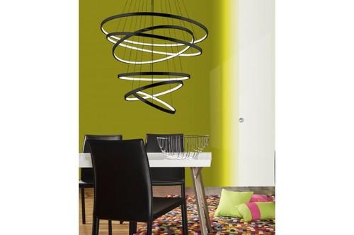Hanging lamp Azzardo Wheel 6 Long dimm black AZ2923