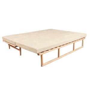 Le MAR daybed sofa raw wood - cream small 1