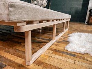 Le MAR daybed sofa raw wood - cream small 2